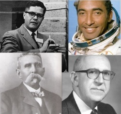 top left to right: Guillermo González Camarena, Arnaldo Tamayo-Méndez